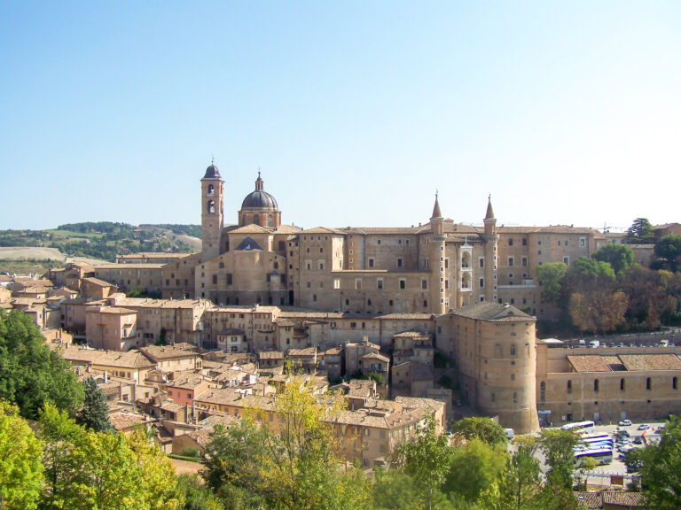 view of the town of urbino italy